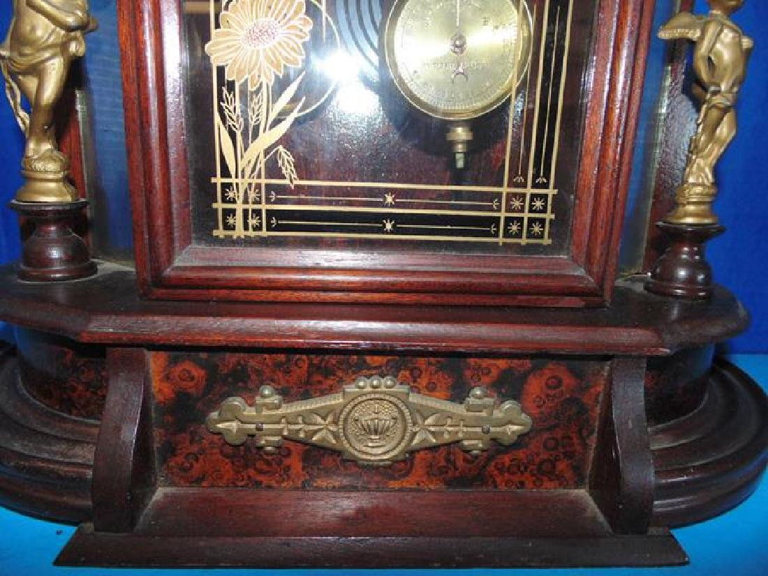 Jenny Lind Parlor Clock With Cupids & Mirror Sides - 3