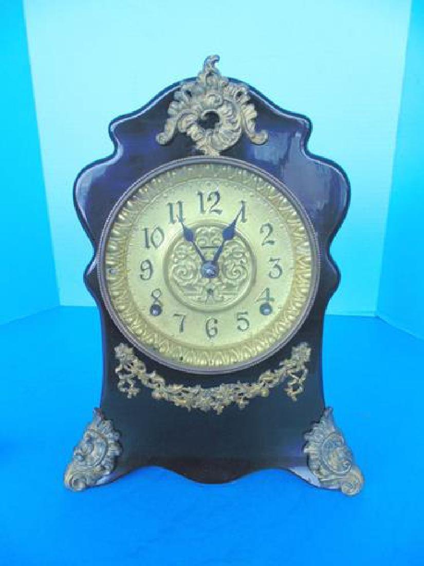 Black Laquer Mantle Clock