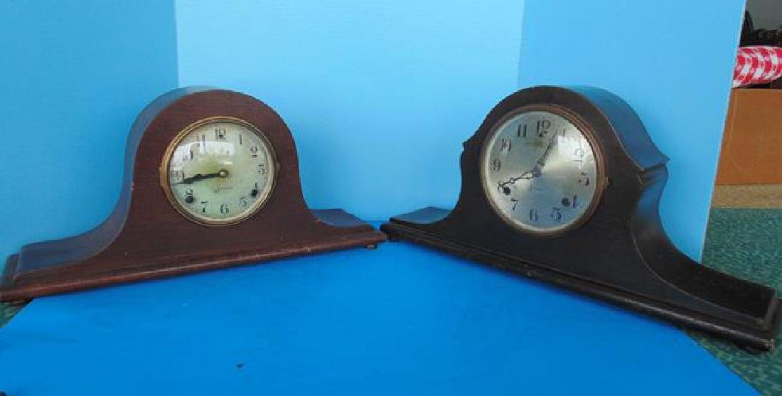 2 Sessions Wood Mantle Clocks