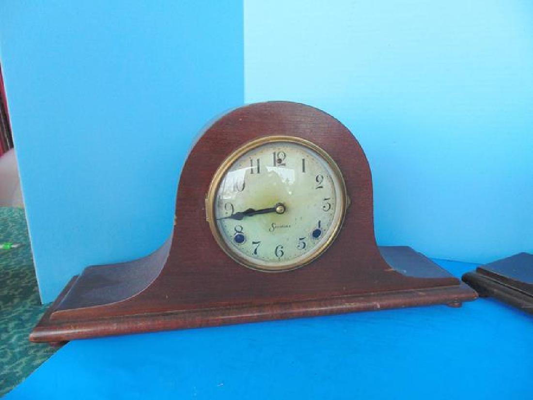 2 Sessions Wood Mantle Clocks - 2