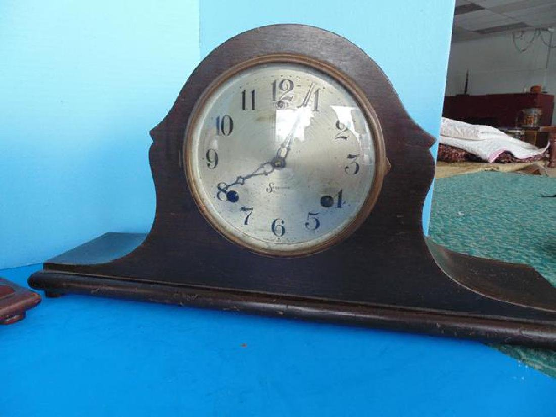 2 Sessions Wood Mantle Clocks - 3
