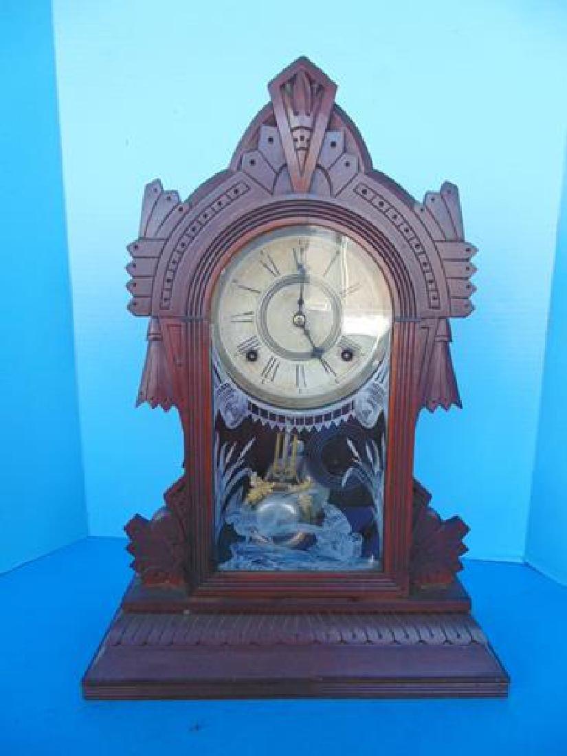 Gilbert Walnut Parlor Clock