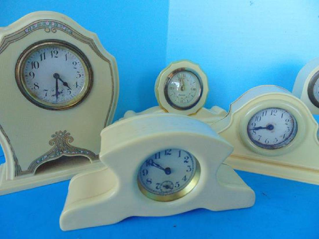 8 Celluloid Desk Clocks - 2