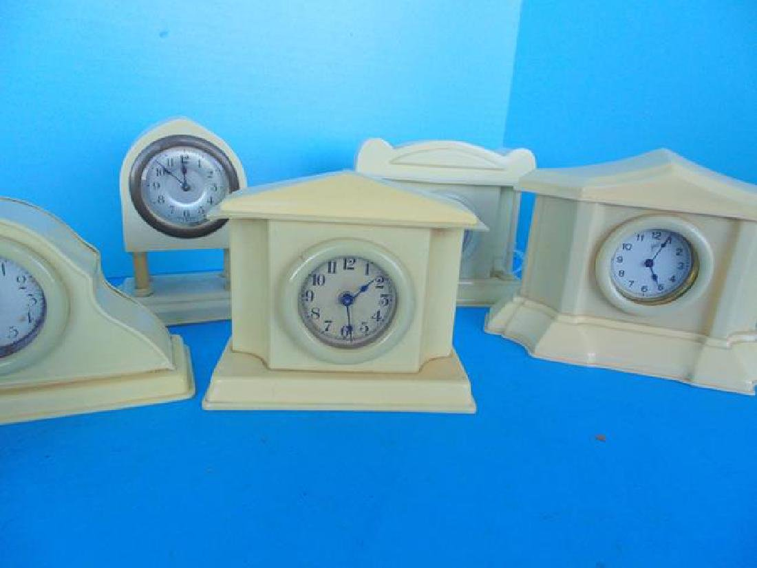 8 Celluloid Desk Clocks - 3