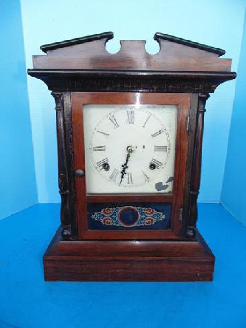 Rosewood Column Clock
