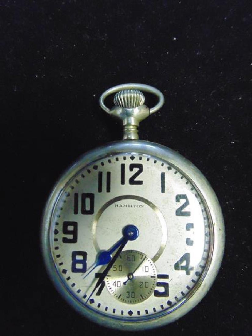 Hamilton Silver Pocket Watch