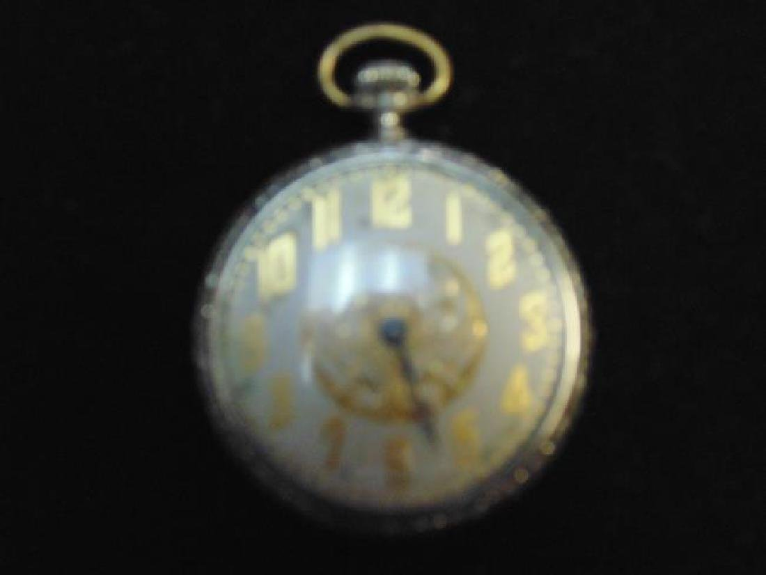 Waltham Pocket Watch with Ornate Face