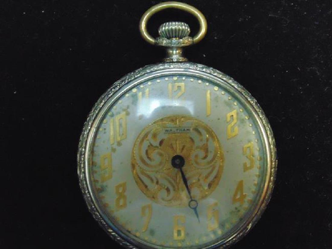 Waltham Pocket Watch with Ornate Face - 2