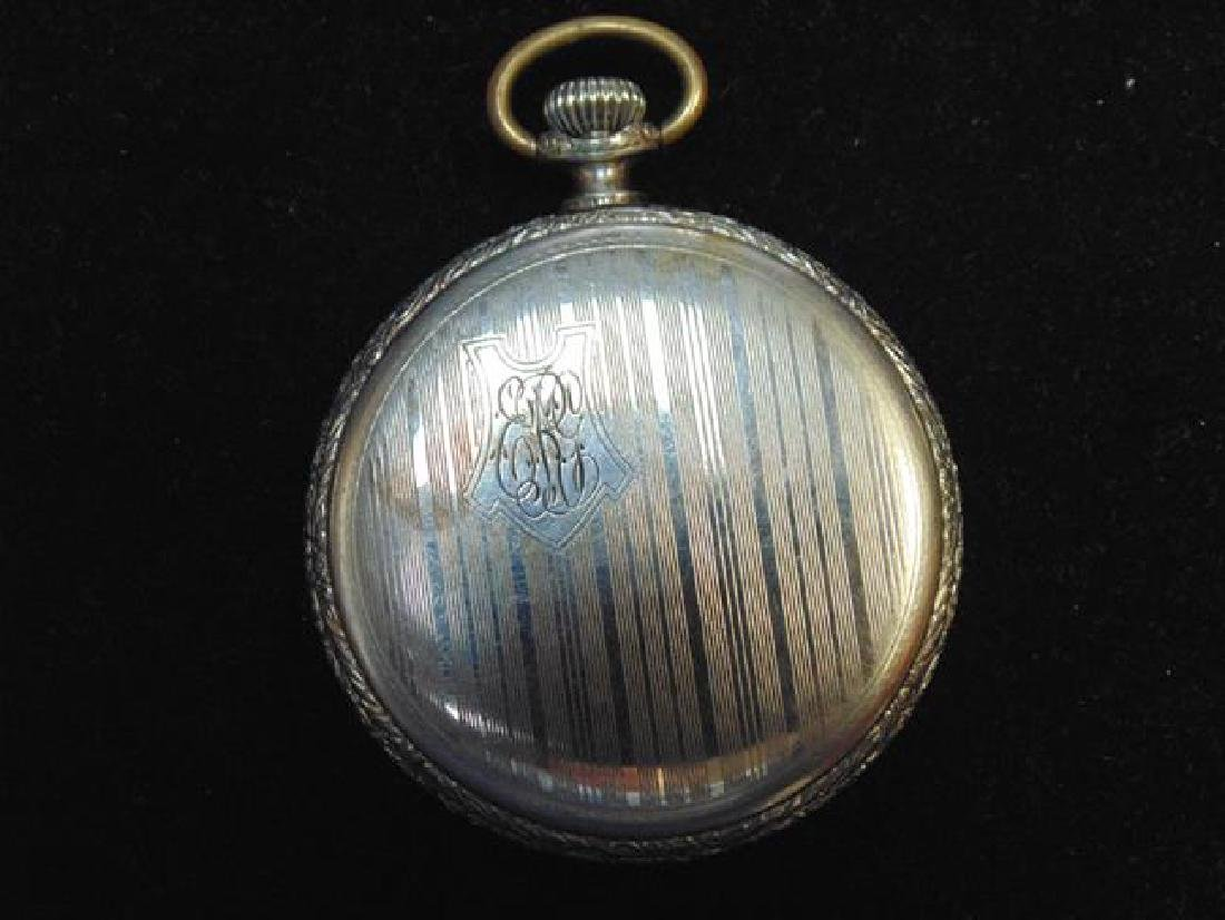 Waltham Pocket Watch with Ornate Face - 3