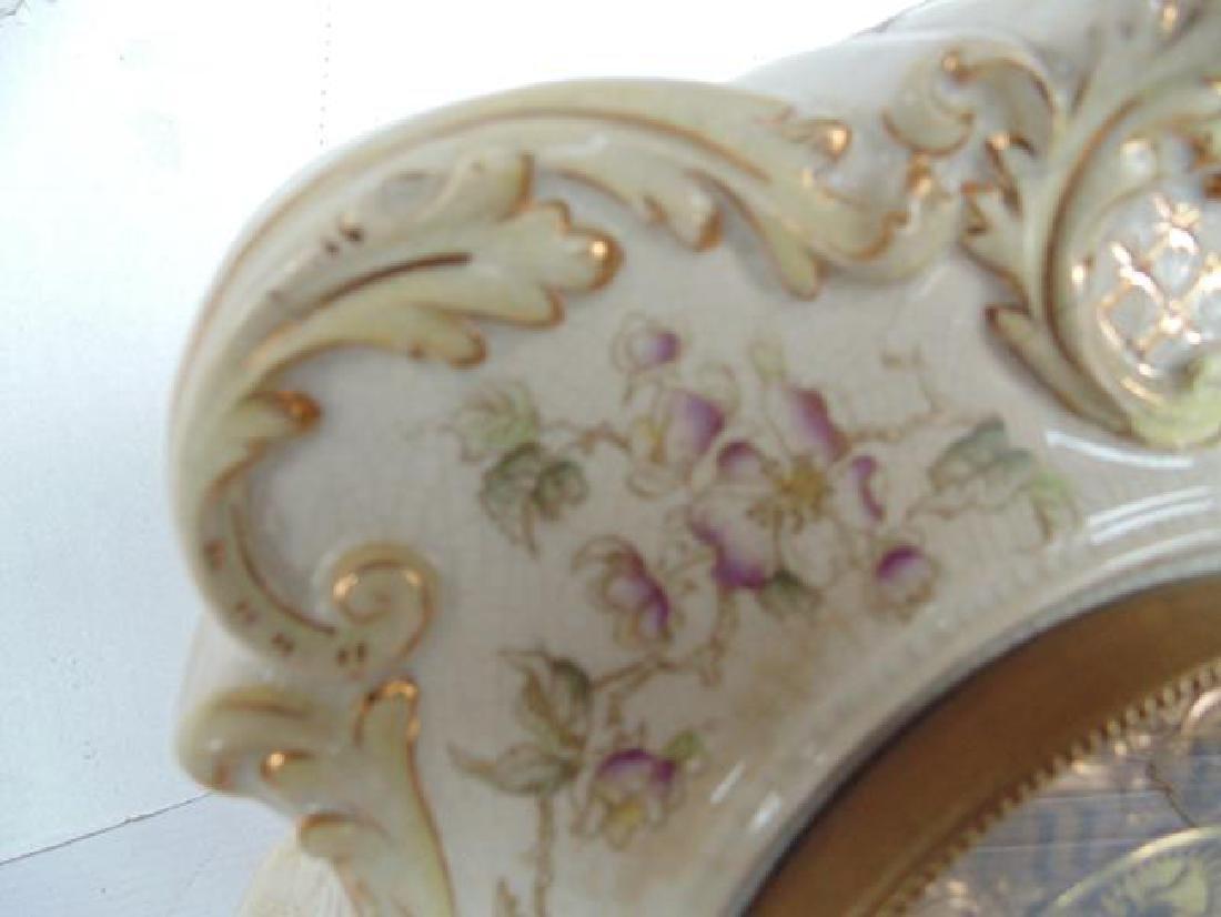 Ansonia White Porcelain Mantle Clock - 4