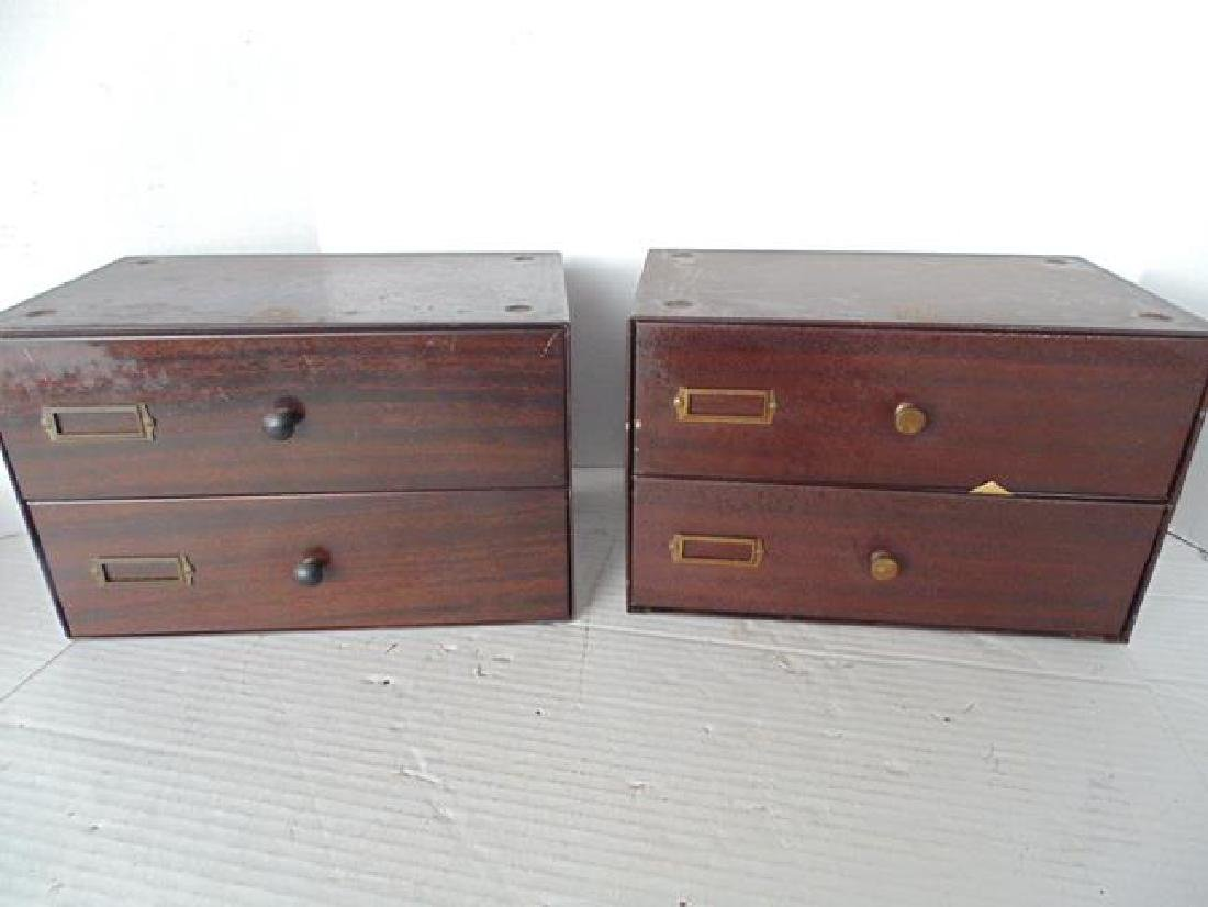 2 Watchmakers Metal Cabinets - 6