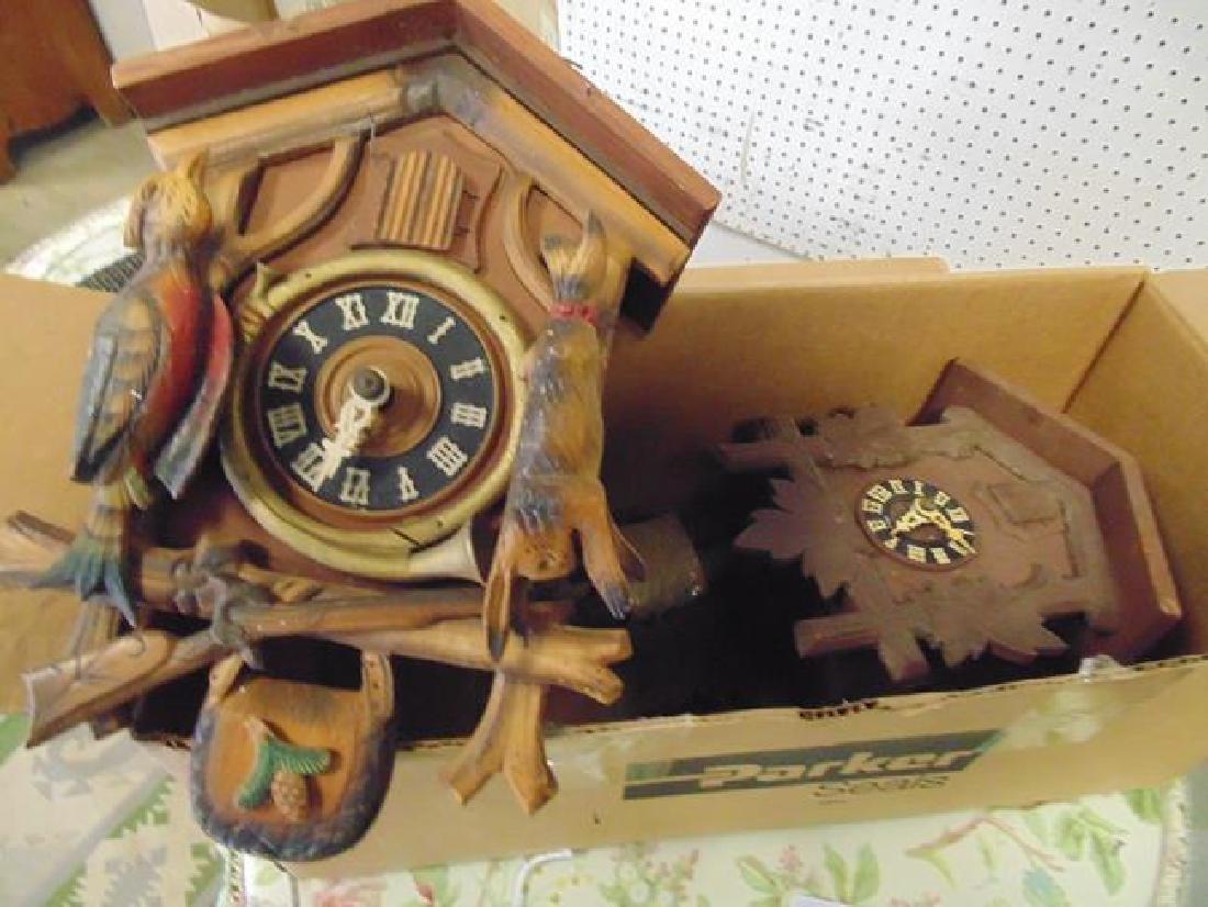 3 Cuckoo Clocks