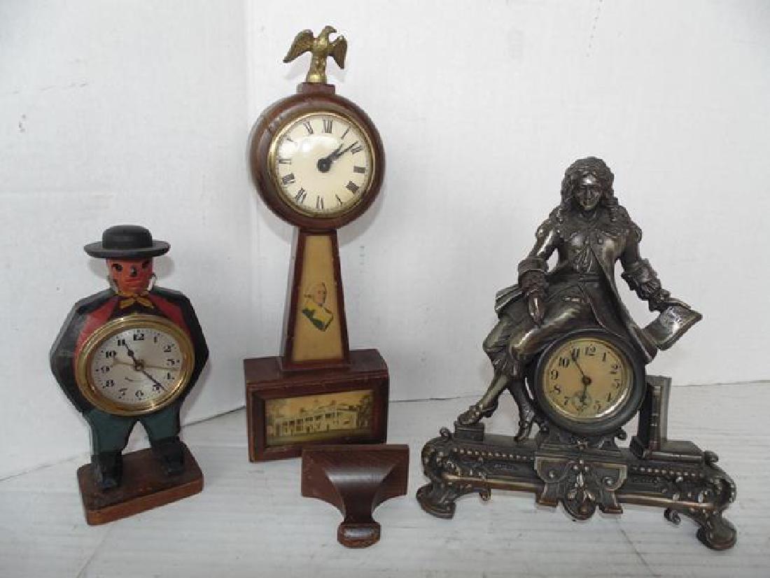 3 Wind Up Clocks