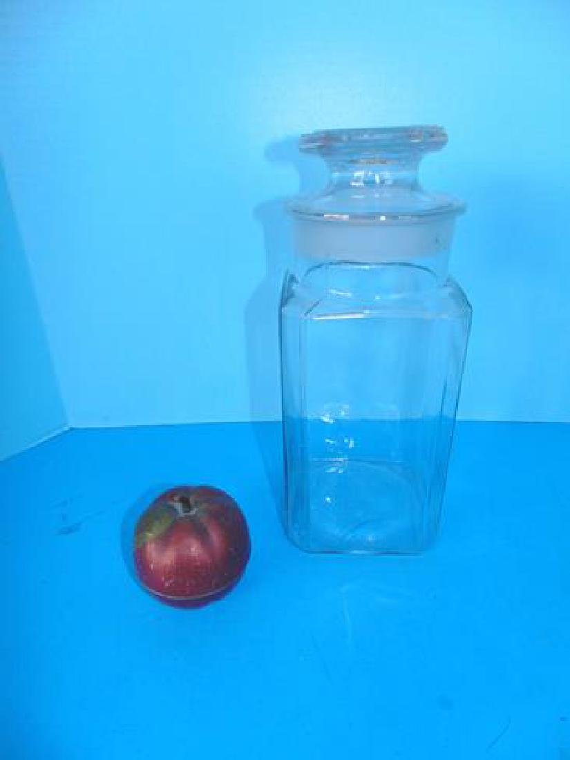 Necco Candy Store Display Jar & Van Dyk Apple Tin