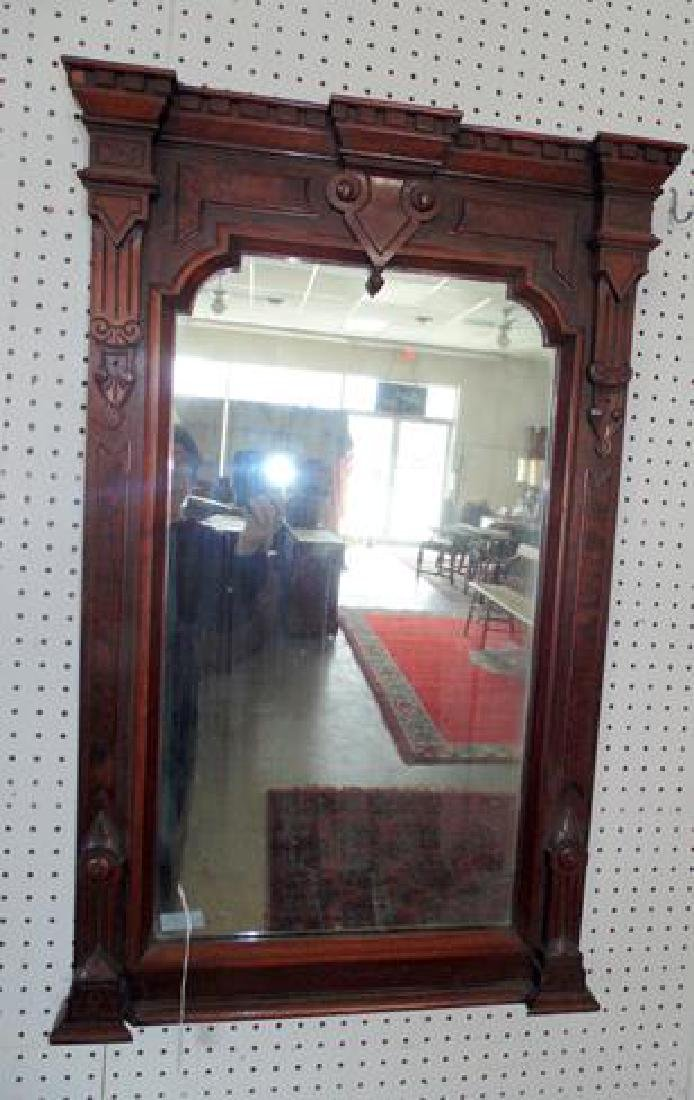 Victorian Burl Walnut Wall Mirror