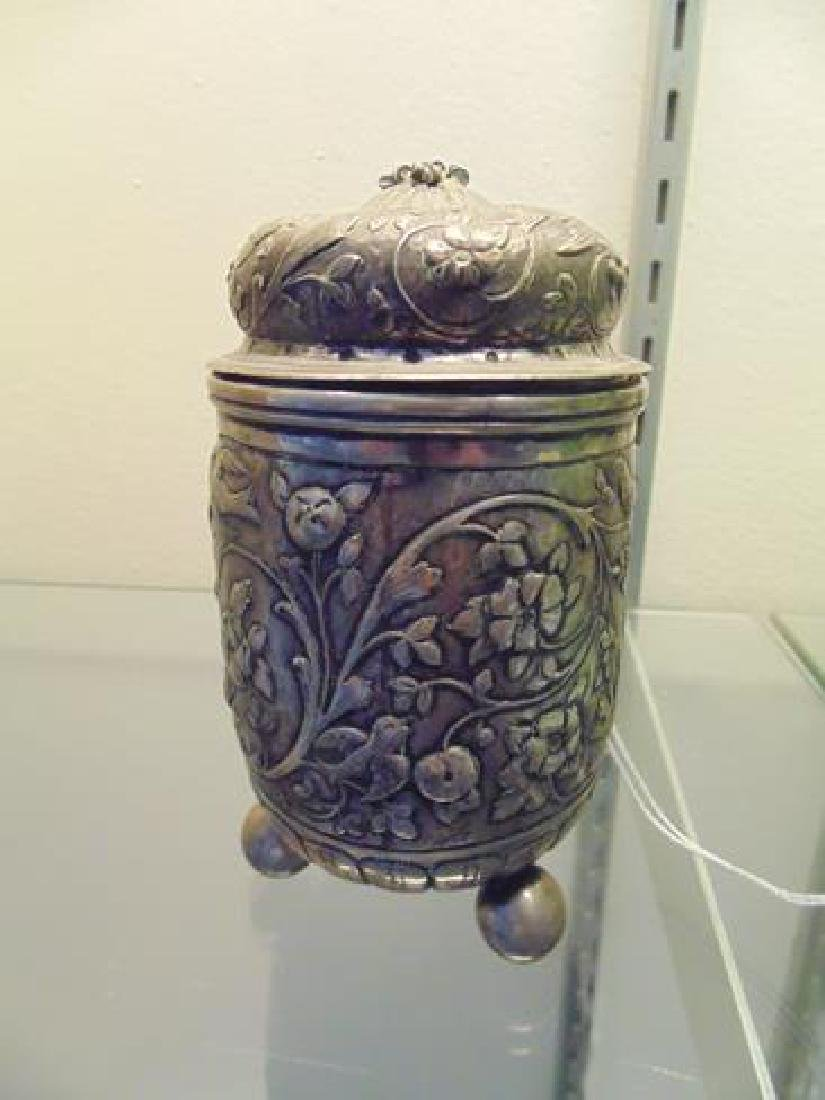 Silverp[late Covered Jar