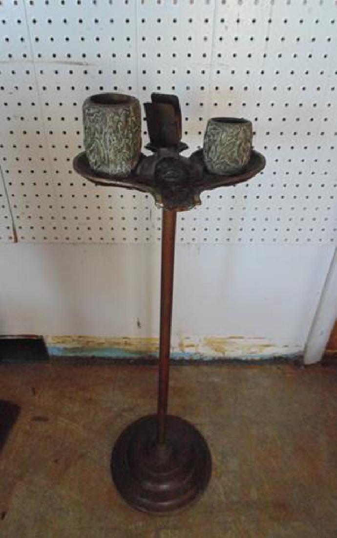 Black Memorabelia Bronze Smoking Stand - 2