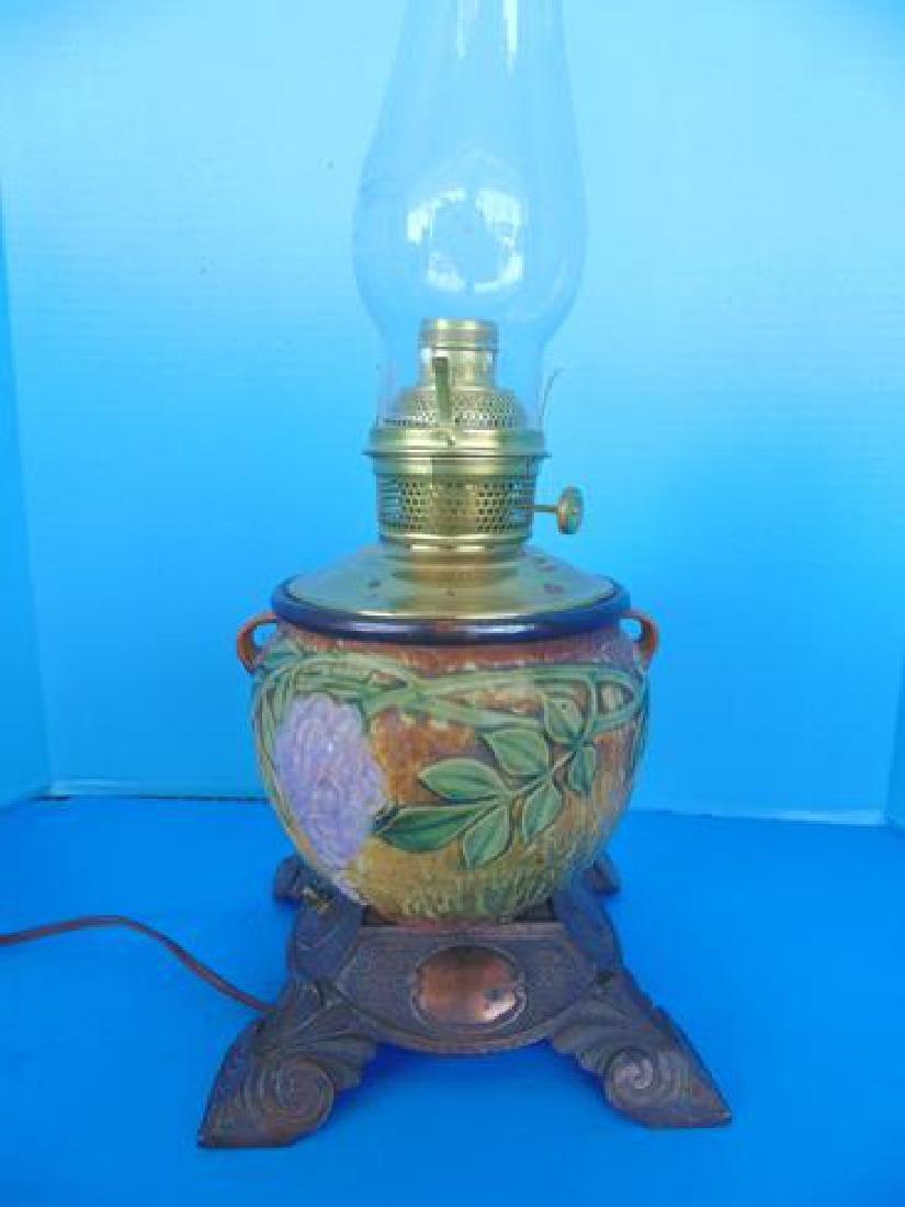 Roseville Wisteria Pottery Lamp