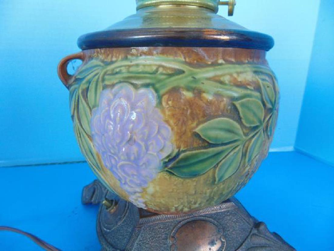 Roseville Wisteria Pottery Lamp - 2