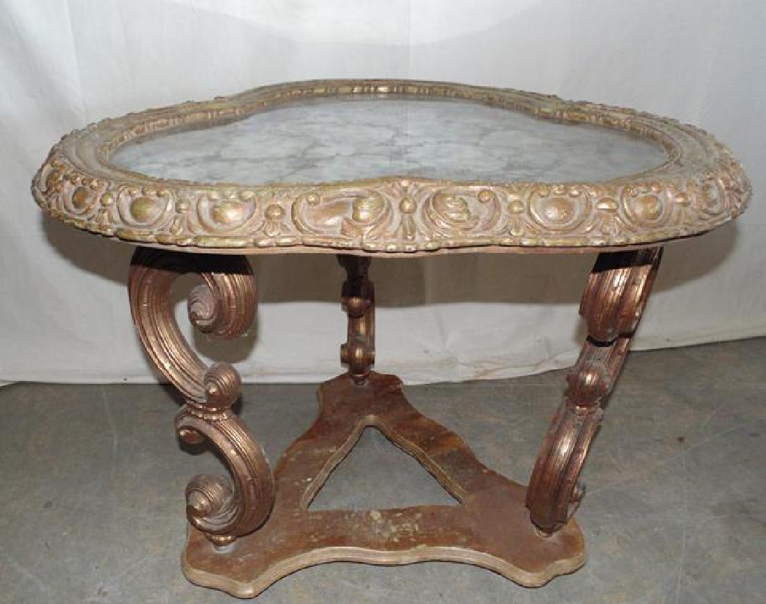 Gilt Glass Top Table