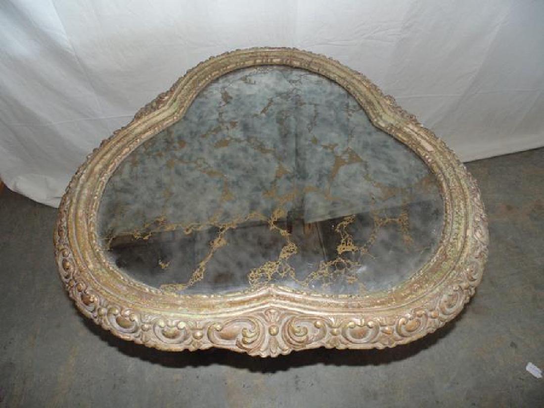 Gilt Glass Top Table - 2