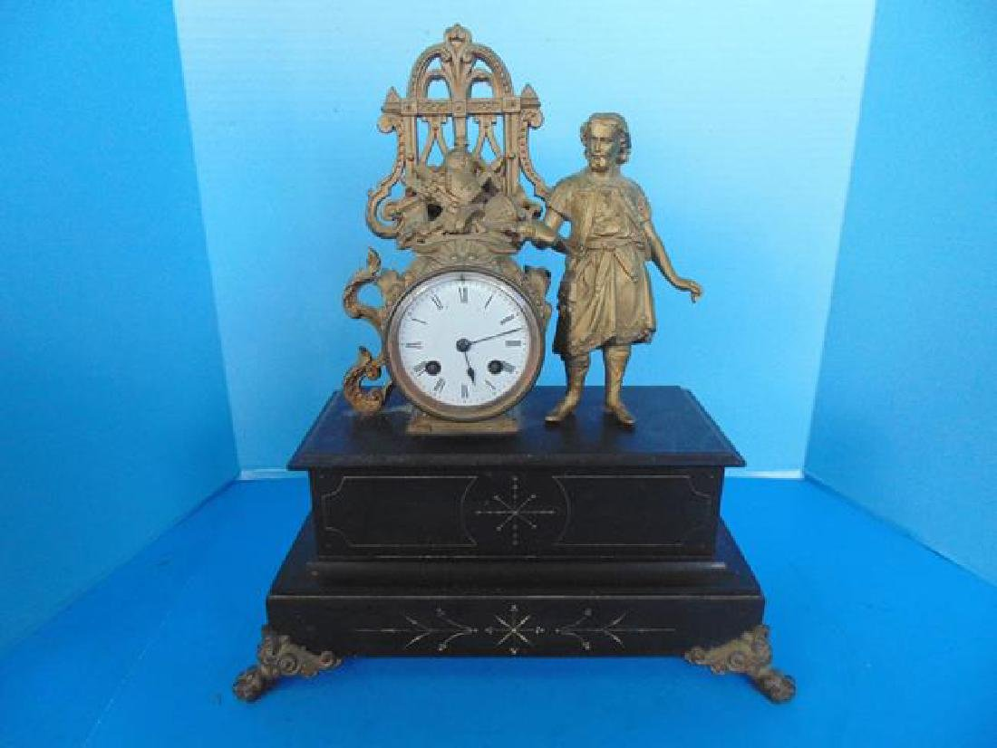 Figural Mantle Clock