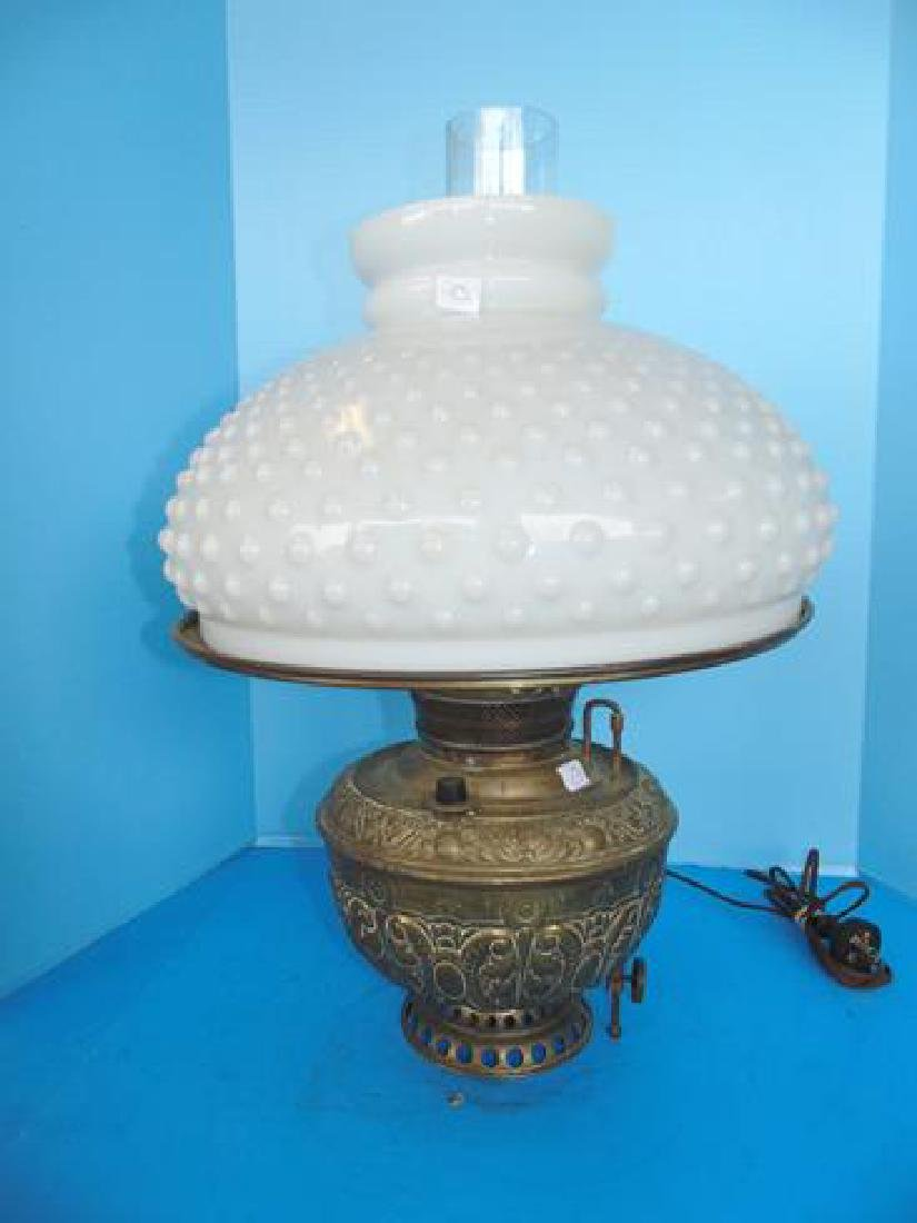 Large Brass Oil Lamp with