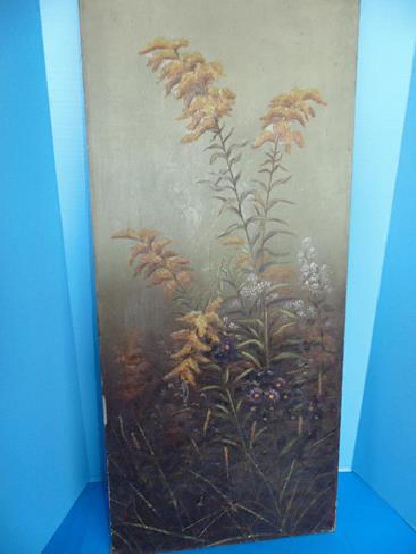Oil On Canvas Painting of Wildflowers