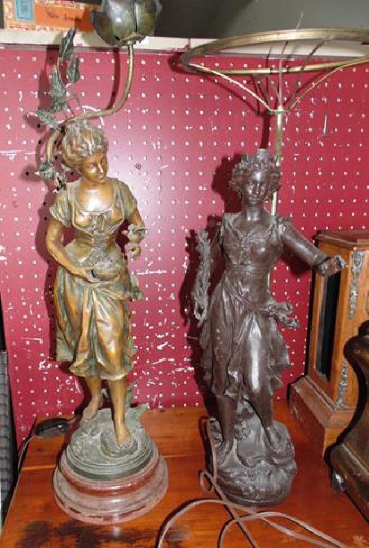 Spelter Figural Lamps