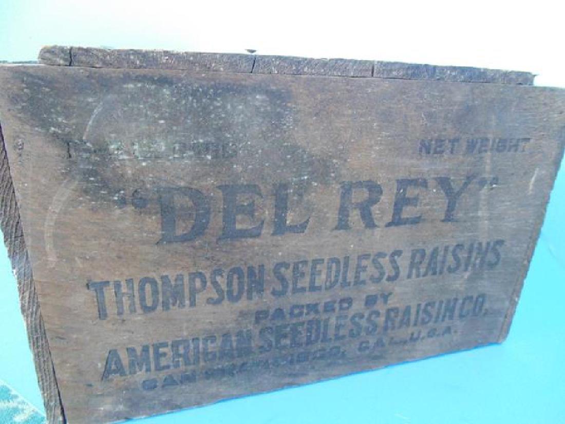 Del Rey Wood Advertising Crate