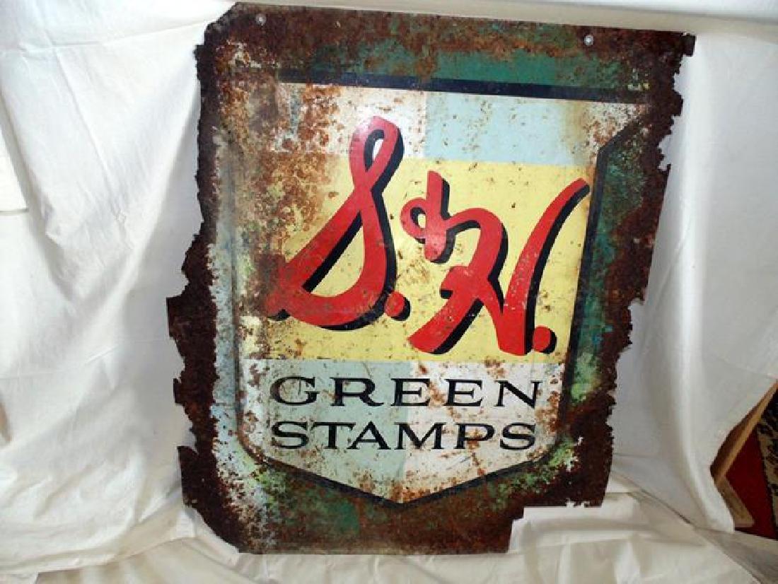 Vintage S&H Green Stamp Advertising sign