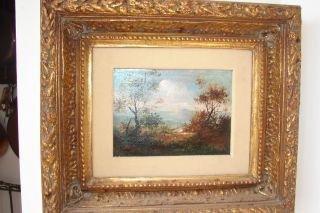 15: Oil on Board of Mountain Scene in Ornate Frame 12.x