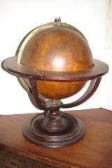 17: Pair of Early Celestrial & Terrestial 1725 Globes G