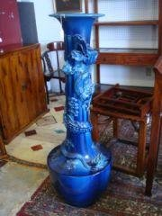 "22: Tall 54"" Oriental Flamba Dragon Vase Tall 54"" vase."