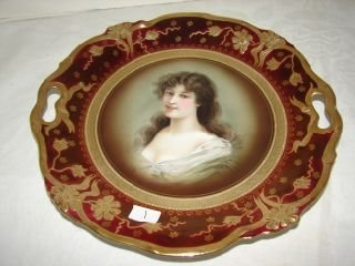 1: Royal Vienna Portrait Plate Portrait Plate with Ruby