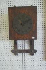 3: Mission Oak Wall Clock 50638