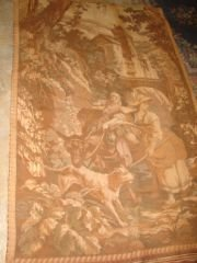 4: Victorian Tapestry Wall Hanging 6x4'.  Velvet Lined