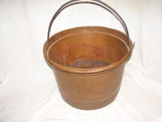 5: Oversized  Antique Copper Bucket
