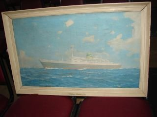 9: Holland America Line Oceanliner Chromolithograph Mea