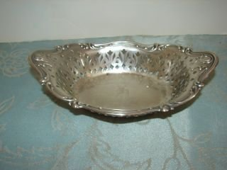 12: Sterling Silver  Reticulated Bowl Bowl weighs appro