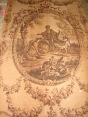 19: Victorian Tapestry Panel Large 6x4' Panel with Oval