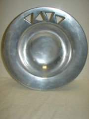 2: Art Moderne Pewter Bowl