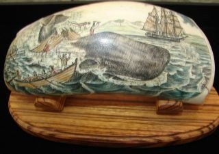 17: Nantucket Carving Signed MJ Vienneau Signed 1992