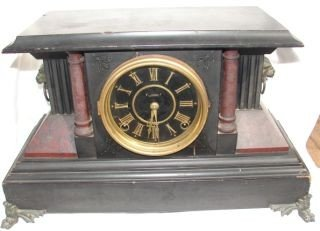 19: Mantle Clock with Lion Heads