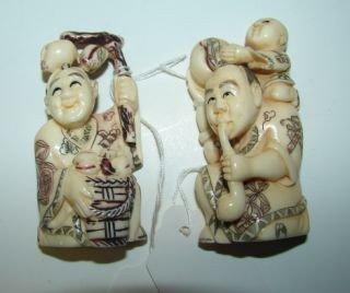 41: 2 Ivory Oriental Netsukes