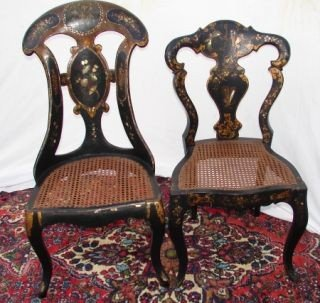 42: Set of 4 Inlaid Chairs