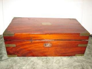 43: Box with Brass Corners and Trim