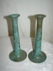 39: Pair of Bronze Candlseticks