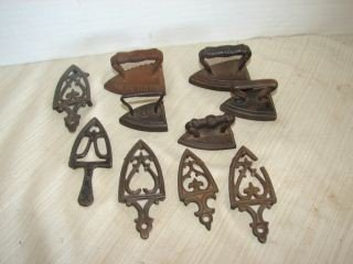 13: Group of Miniature Trivets and Irons