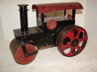 2: Large Steelcraft  Metal Steam Roller Toy Truck